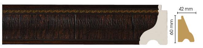 Цветной плинтус напольный  Decomaster  175-1 (размер 60х42х2900)