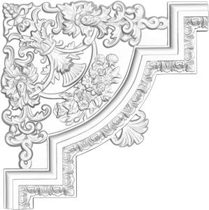 Угол декоративный Decomaster DP 8053 A  (к молдингу DT 8053)