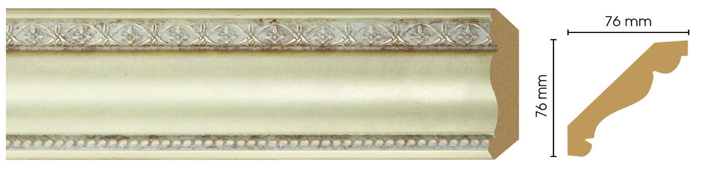 Потолочный плинтус (карниз) Decomaster 154-937 (размер 76х76х2400)