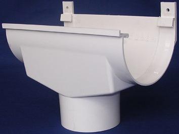 Воронка расширительная водосточной системы, белая