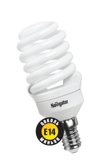 Лампа э/сб Navigator NСL-SF10-20-840-E14 холодный (20Вт)
