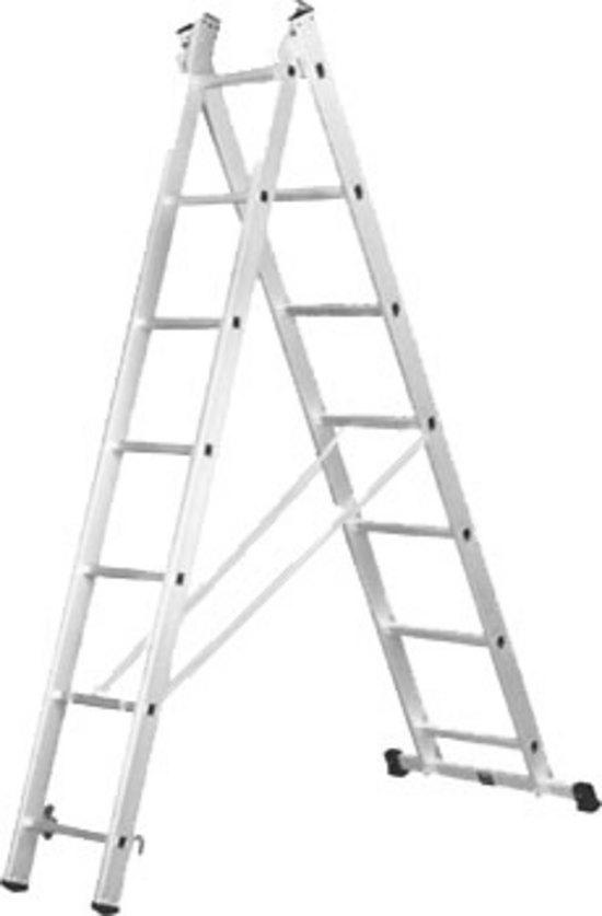 Лестница 2-х секционная 2х7 (1.8м/2.9м)