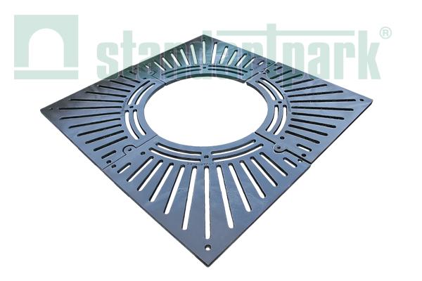 Решетка приствольная РП - 100 100-СЧ чугунная квадратная