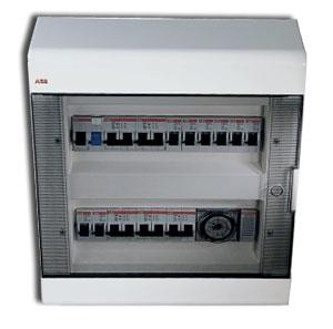 Бокс внутренний ABB (АББ) 24 модуля белый 2063 (прозрачная дверка)