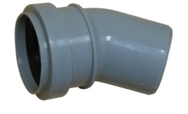 Отвод 50х45гр (внутр.канализация)