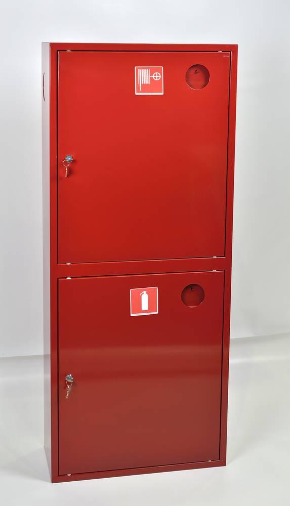Шкаф пожарный ШПК-320НЗК навесной закрытый красный