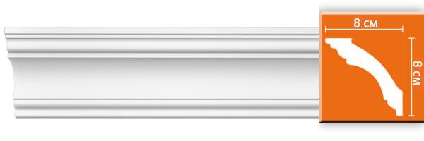 Плинтус гладкий Decomaster DP 213 (размер 80х80х2400)