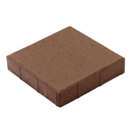 Тротуарная плитка Квадрат коричневый 400x400x60мм