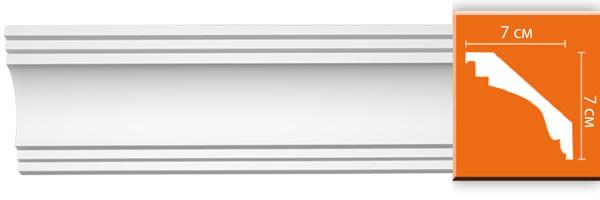 Плинтус гладкий Decomaster 96257 (размер 70x70x2400)