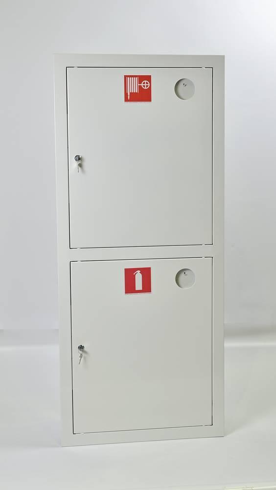 Шкаф пожарный ШПК-320ВЗБ встраиваемый закрытый белый