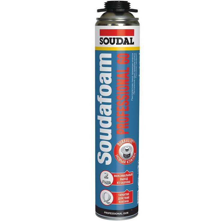 Пена монтажная Soudal Soudafoam Professional 60 зимняя пистолетная 750 мл