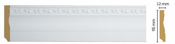 Плинтус напольный Decomaster 153-115 (размер 95х12х2400)