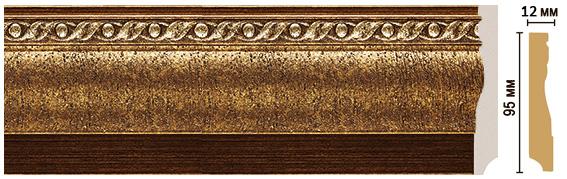 Цветной напольный плинтус Decomaster 153-43 (размер 95х12х2400)