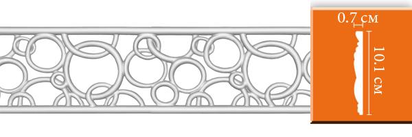 Молдинг Decomaster DT-8035 со сквозным узором (размер 101x7х2400)