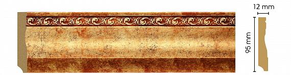 Decomaster Плинтус напольный Decomaster 153-552 (размер 95х12х2400) decomaster багет decomaster 808 552 размер 61х26х2900мм