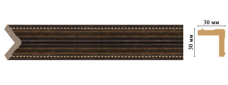 Цветной угол Decomaster 116-56 (размер 30х30х2400)
