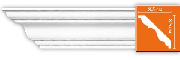 Плинтус гладкий Decomaster DP 338 (размер 85x85x2400)