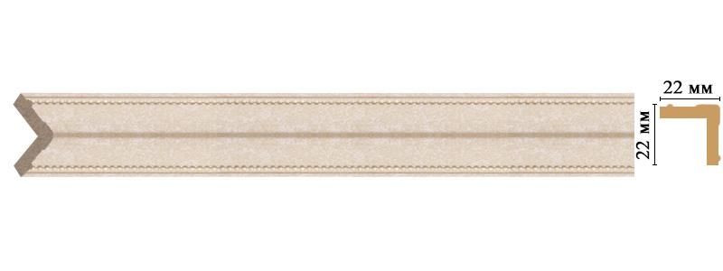 Цветной угол Decomaster 116M-18D (размер 22х22х2400)