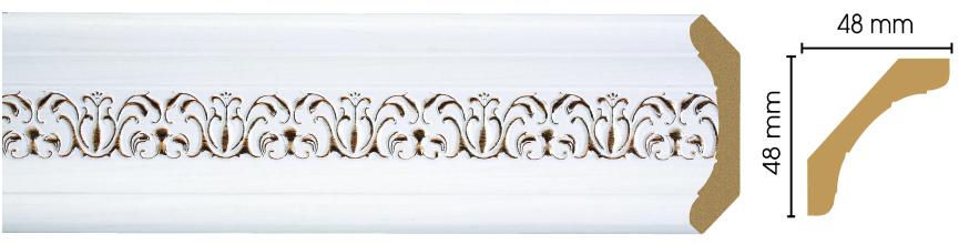 Потолочный плинтус (карниз) Decomaster 167-118 (размер 48х48х2400)