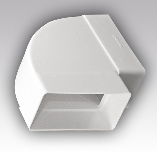 Колено горизонтальное пластик, 55х110