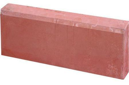 Бордюр садовый красный, разм. 500х200х80мм