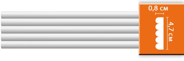 Молдинг гладкий Decomaster 97607 (размер  47х8х2400)