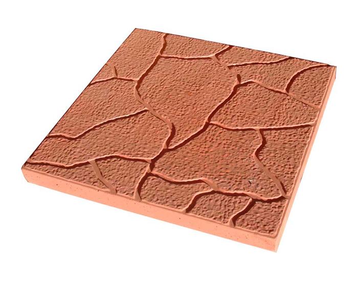 Тротуарная плитка Тучка красный