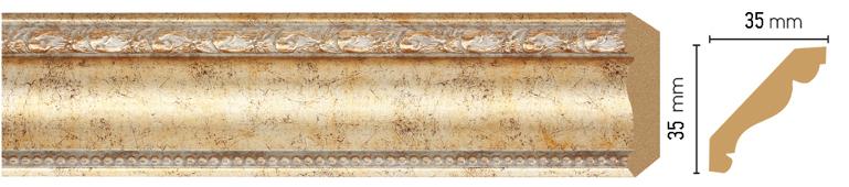 Потолочный плинтус (карниз) Decomaster 155S-553 (размер 35х35х2400)