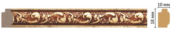 Багет Decomaster 158-552 (размер 18х10х2400)
