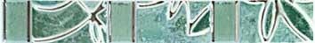 Бордюр Шахтинская плитка Пьетра бирюзовый 20х2,8