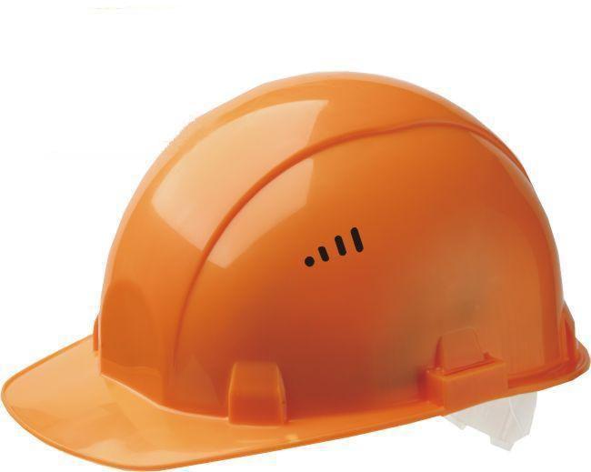 Каска строителя защитная (оранжевая)