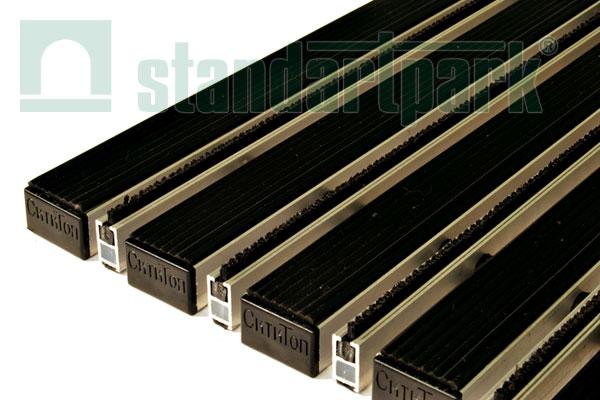 Придверная решетка Сити (Резина + Страйп), 400х600