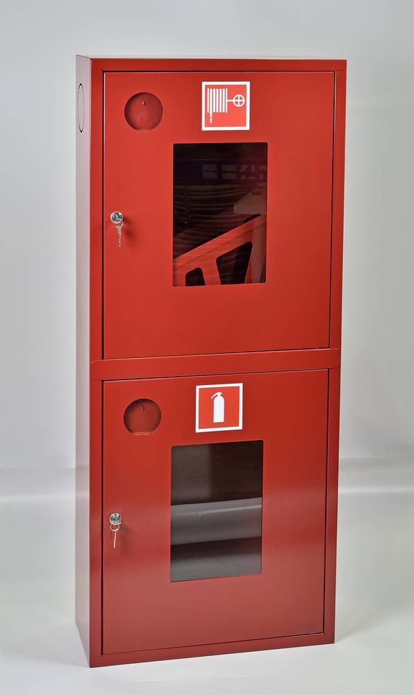 Шкаф пожарный ШПК-320НОК навесной открытый красный