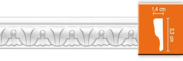 Молдинг с орнаментом Decomaster 98027 гибкий (размер 33х14х2400)