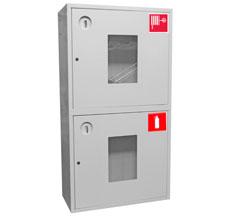 Шкаф пожарный ШПК-320-12НОБ навесной открытый белый