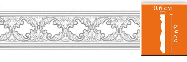 Молдинг с орнаментом Decomaster DT-8023 (размер 6х69х2400)
