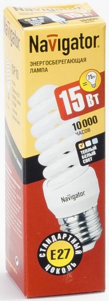 Лампа э/сб Navigator NСL-SF10-15-827-E27 теплый (15Вт)