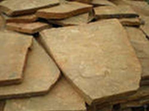 Дикий камень песчаник желто-коричневый с рисунком толщ2см (1м2)