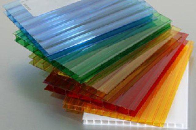 Сотовый поликарбонат цветной разм. 2,1х12м, толщ.4мм