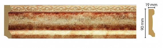 Плинтус напольный Decomaster 166-127 (размер 90х19х2400)