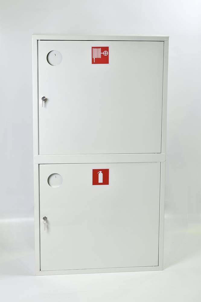 Шкаф пожарный ШПК-320-12НЗБ навесной закрытый белый