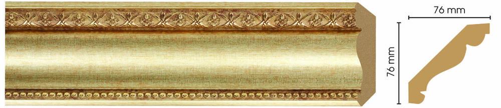 Потолочный плинтус (карниз) Decomaster 154-933 (размер 76х76х2400)
