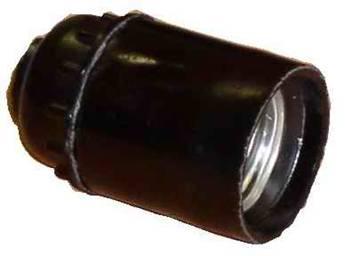 Электрический патрон E27 подвесной карболитовый черный