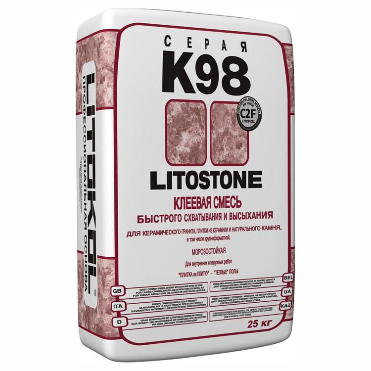 Клей для плитки Litokol Litostone K98 серый 25 кг
