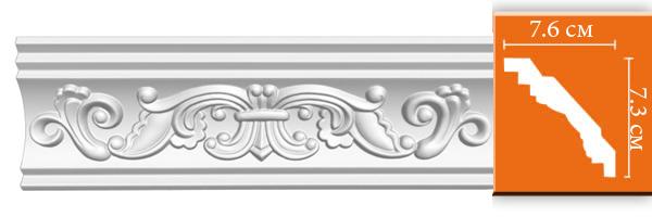 Плинтус с орнаментом Decomaster  95406 (размер 73х76х2400 )