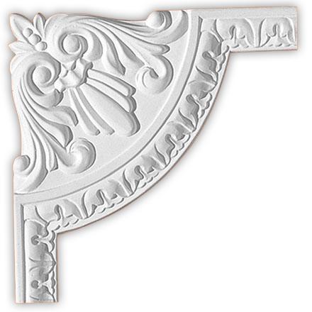 Угол декоративный Decomaster 98027-1 (размер 220х220х14)