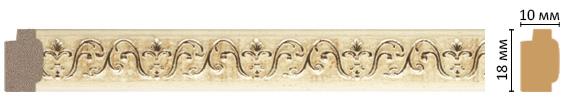 Багет Decomaster 158-1028 (размер 18х10х2400)