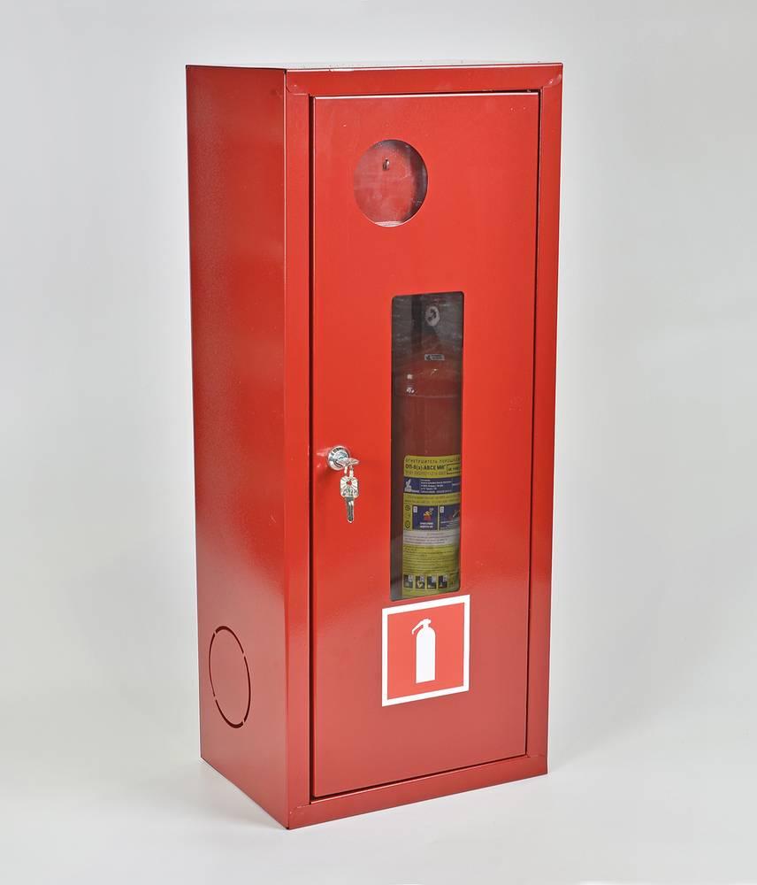 Шкаф для огнетушителя ШПО-103НОК навесной открытый красный