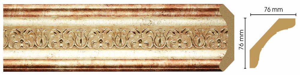 Потолочный плинтус (карниз) Decomaster 169-127 (размер 76х76х2400)
