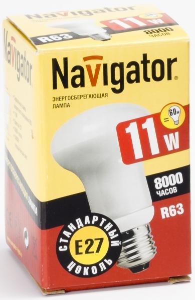 Лампа э/сб Navigator NСL-R63-11-830-E27  теплый (11Вт)